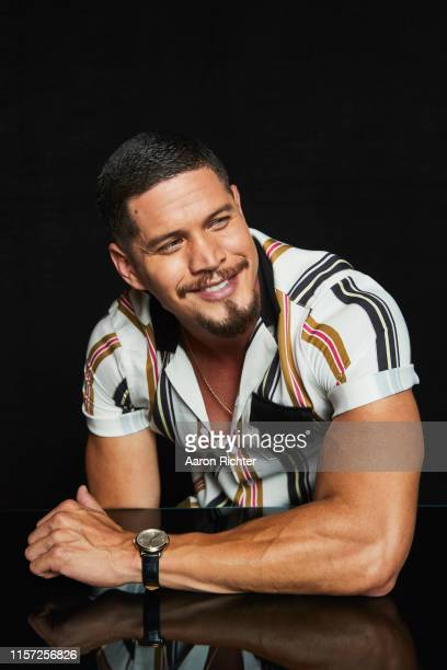 J D Pardo of Mayans MC poses for a portrait in the Pizza Hut Lounge at 2019 ComicCon International San Diego on July 20 2019 in San Diego California