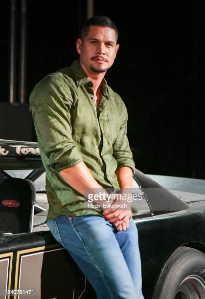 Pardo poses for a portrait at the F9 Fest event on the Universal Studios backlot celebrating F9: The Fast Saga on September 15, 2021 in Universal...