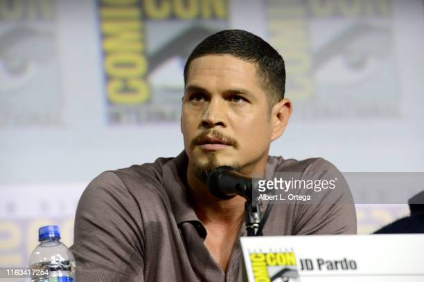 Pardo speaks at the Mayans MC Discussion and QA during 2019 ComicCon International at San Diego Convention Center on July 21 2019 in San Diego...