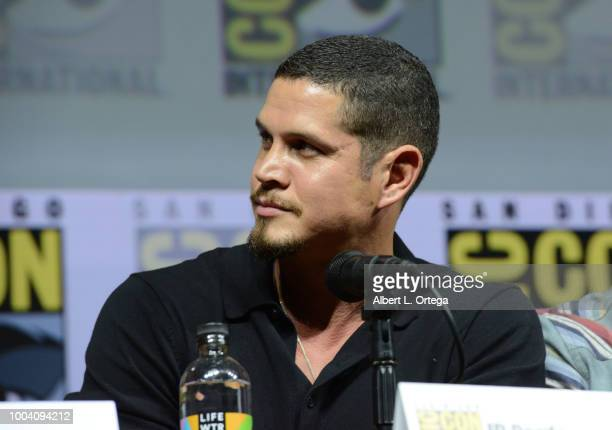 D Pardo speaks onstage at the Mayans MC discussion and QA during ComicCon International 2018 at San Diego Convention Center on July 22 2018 in San...