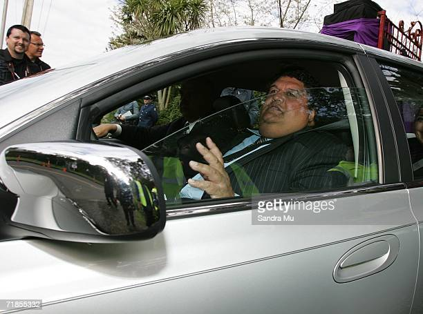 Parekura Horomia leaves the Kings premises after paying his respects to the Late King of Tonga, Taufa'ahau Tupou IV in Epson, September 12, 2006 in...