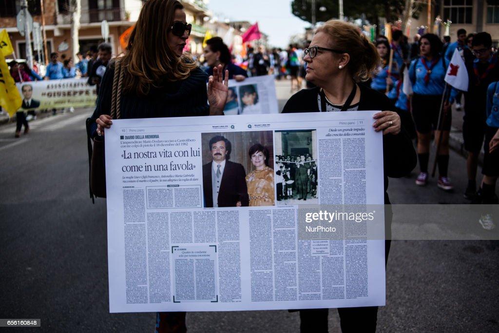 Manifestation against Mafie in Locri, Reggio Calabria : News Photo