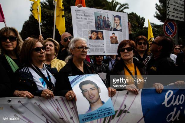 Parens of Victims of the Mafia Manifestation against Mafie in Locri Reggio Calabria Italy March 21/2017 The event there ware 16000 people