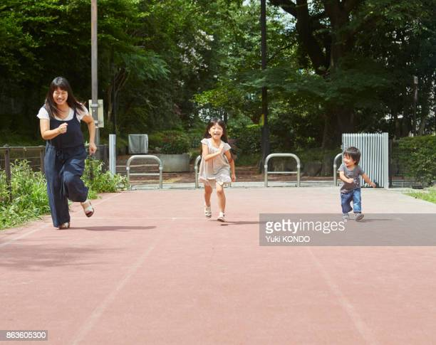 Parent and child to take a race