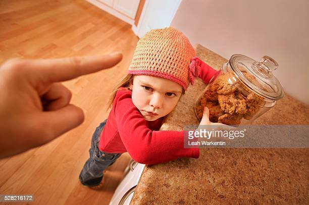 Parent Scolding Girl Caught with Cookie Jar