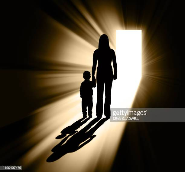 parenting silhouette - divorce stock pictures, royalty-free photos & images