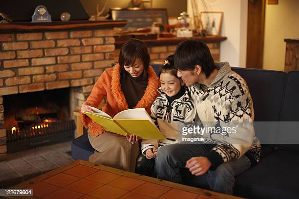Parents and a child relaxed