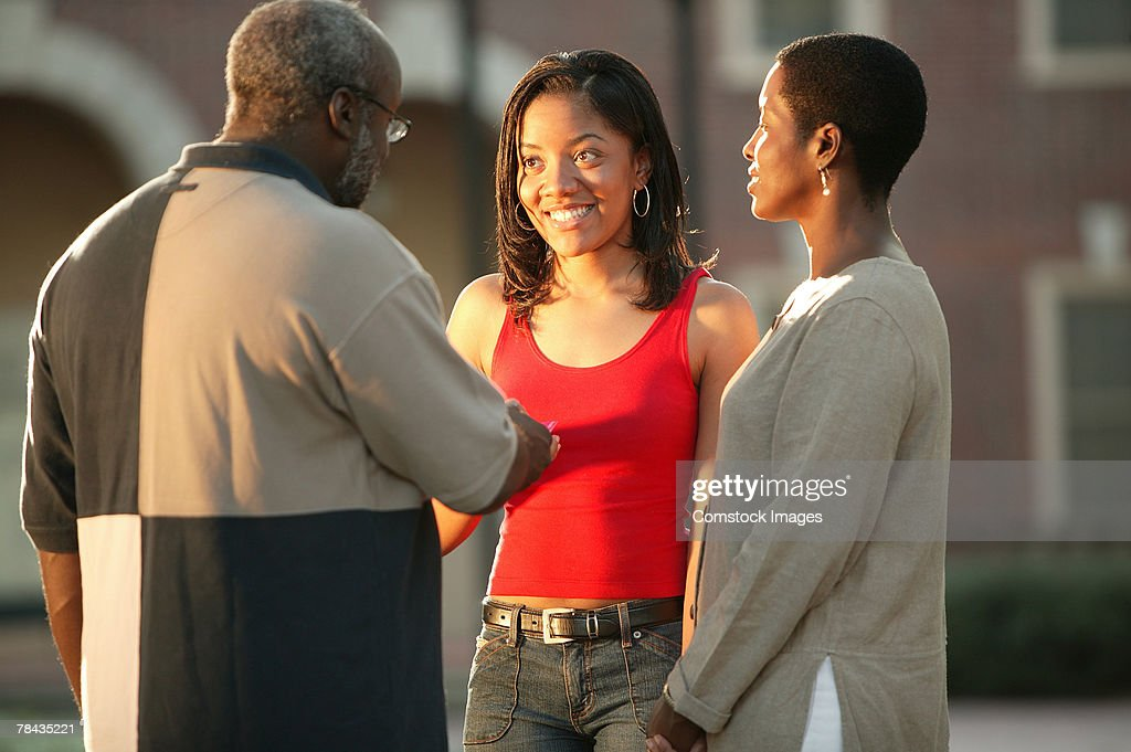 Parents and daughter : Stock Photo