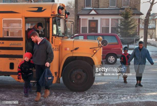 Parents arrived at Holland Elementary School Monday morning with their children Gary Johnson and his son Nicholas arrived by bus while Ava Reed and...