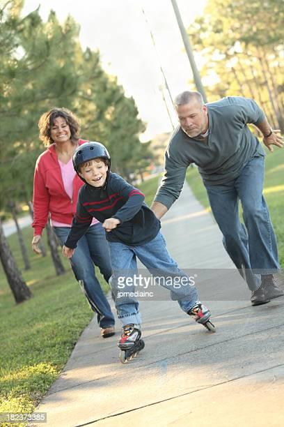 Parents encouraging son
