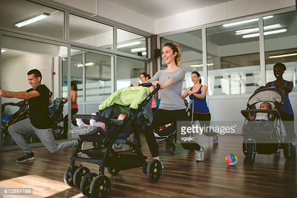 Parents Exercising with Their Babies