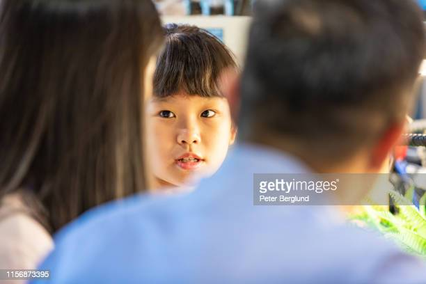 parents having a serious talk with her daughter - mother scolding stock pictures, royalty-free photos & images
