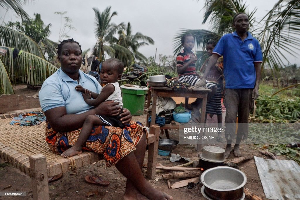 TOPSHOT-MOZAMBIQUE-WEATHER-CYCLONE-KENNETH : News Photo