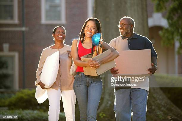 Parents moving college student