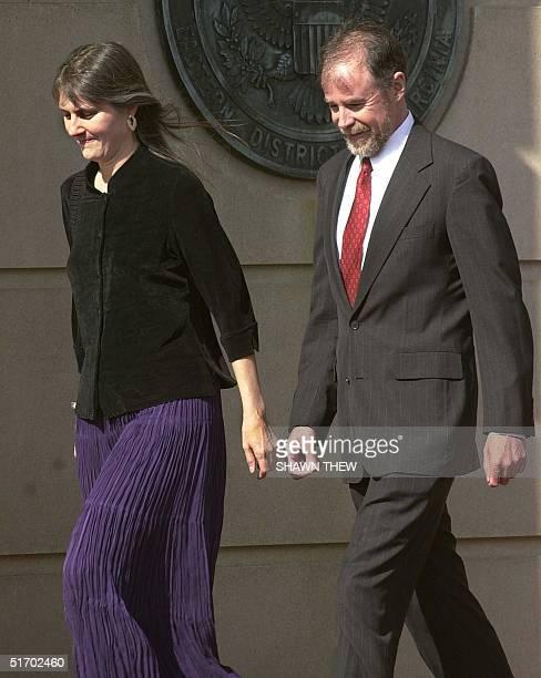 Parents of American Taliban John Walker Lindh Marilyn Walker and Frank Lindh walk to the Albert V Bryan Federal Court House in Alexandria VA 01 April...