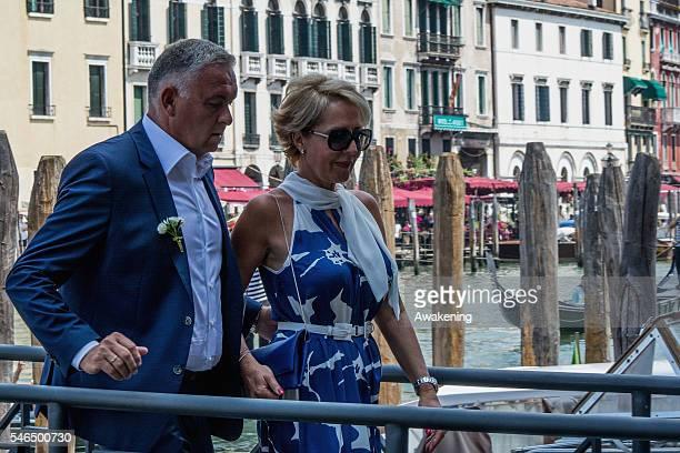 Parents of Ana Ivanovic arrive Miroslav Ivanovic and Dragana Ivanovic arrive at the wedding hall at Palazzo Cavalli for the celebration of Bastian...