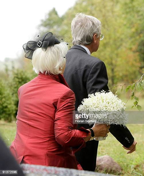 Parents of Barbara Schoeneberger Hans Schoeneberger and wife Annemarie Schoeneberger arrive for the church wedding of Barbara Schoeneberger and...