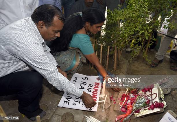 Parents of December 16 2012 Damini Rape Case victim at Press Club of India after the Supreme Court pronounced verdict on the appeals filed by four...