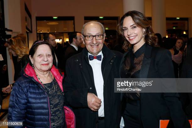 Parents of Kad Merad and Companion of Kad Merad Julia Vignali attend the Cesar Film Awards 2019 at Salle Pleyel on February 22 2019 in Paris France