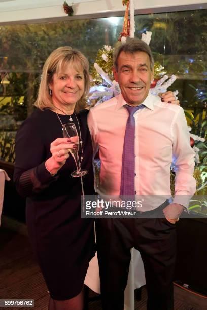Parents of Laurent Gerra Nicole Gerra and Nanou Gerra celebrate 50 Years of Laurent Gerra at Restaurant Chez Francoise on December 29 2017 in Paris...