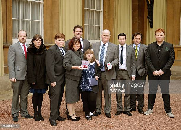 Parents of murdered schoolboy Jimmy Mizen Margaret Mizen and Barry Mizen with their children Bobby Joanne George Danny Samantha Harry Billy and Tommy...