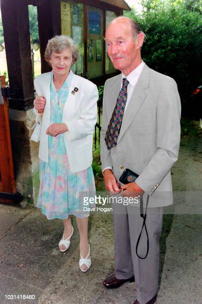 Parents of The Rolling Stones Mick Jagger Eva Scutts and Basil Jagger attend their granddaughter Georgia May Jagger's christening at Saint Andrew's...