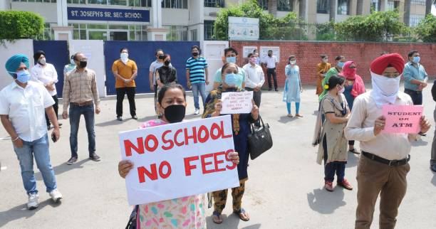 IND: Parents Protest Outside Chandigarh Schools Over Fee Collection Amid Lockdown