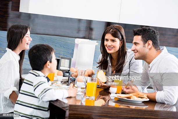 Parents talking to the kids