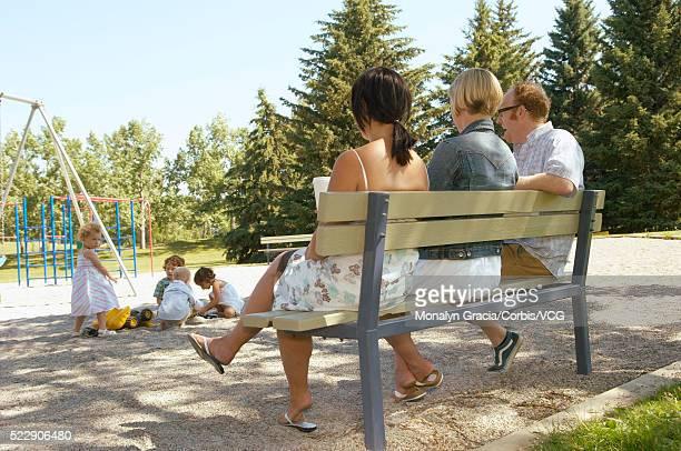 Parents watching children