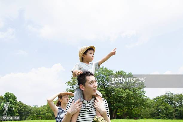 Parents who have seen direction in which child is pointing