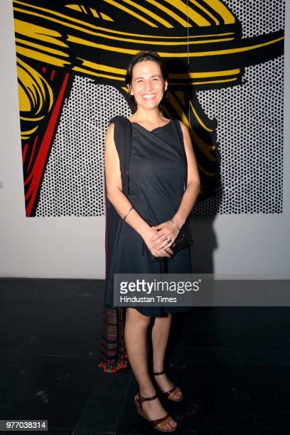 Paresh Maity and Rod Hilton during a firstofitskind showcase of Australian aboriginal artworks Exhibition by Australian National Gallery at NGMA on...