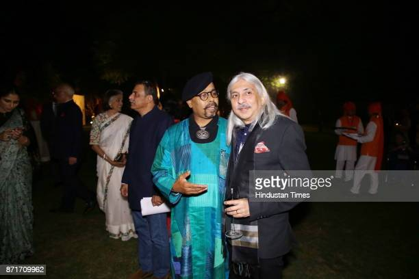 Paresh Maity with Sanjoy Roy during the fundraiser for Lepra India Trust at the residence of the British High Commissioner Sir Dominic Asquith at 2...