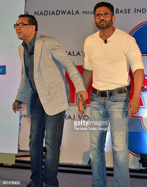 Paresh Rawal and Sunil Shetty at the announcement ceremony of Hera Pheri 3