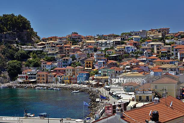 Parga City the Seafront In Epirus Greece