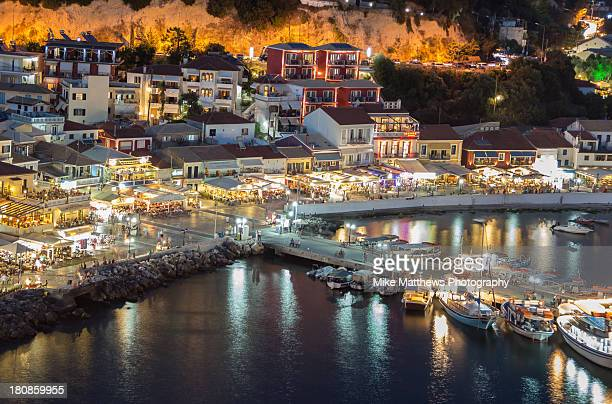 parga harbour - epirus greece stock pictures, royalty-free photos & images