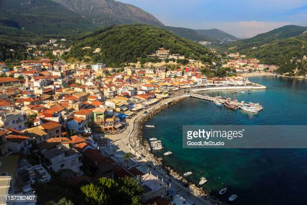 parga - epirus greece stock pictures, royalty-free photos & images