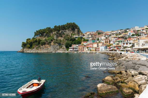 parga town at noon, greece, europe - epirus greece stock pictures, royalty-free photos & images