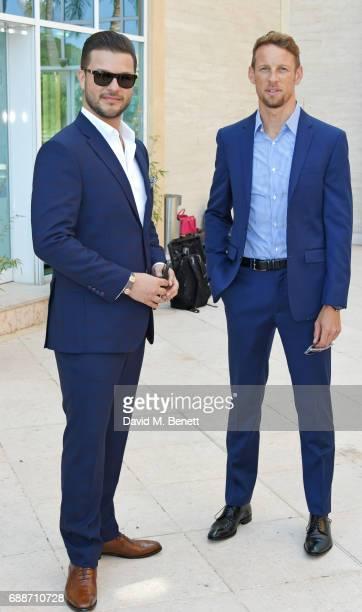 Parham Ramezani and 2009 F1 World Champion Jenson Button pose at the launch of The Legacy Collection by Parham Ramezani on The Terrace Amber Lounge...