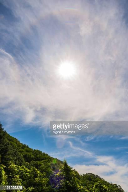 parhelion phenomenon of gapyeong, gyeongi province, south korea - light natural phenomenon stock pictures, royalty-free photos & images