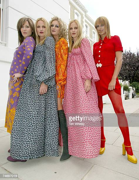 Pari owner of the Biba collection at a photocall with BIBAdressed models at the Kensington in London United Kingdom