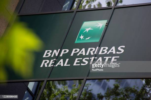 Paribas bank logo is seen on September 19, 2020 in Warsaw, Poland.