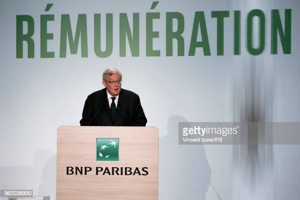 Paribas president Jean Lemierre attends the French banking group BNP Paribas general shareholders meeting on May 24 2018 in Paris France The largest...