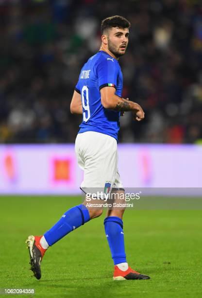 Parick Cutrone of Italy U21 looks on during the International friendly match between Italy U21 and England U21 on November 15 2018 in Ferrara Italy
