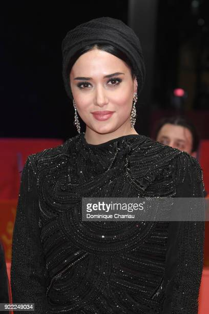 Parinaz Izadyar attends the 'Pig' premiere during the 68th Berlinale International Film Festival Berlin at Berlinale Palast on February 21 2018 in...