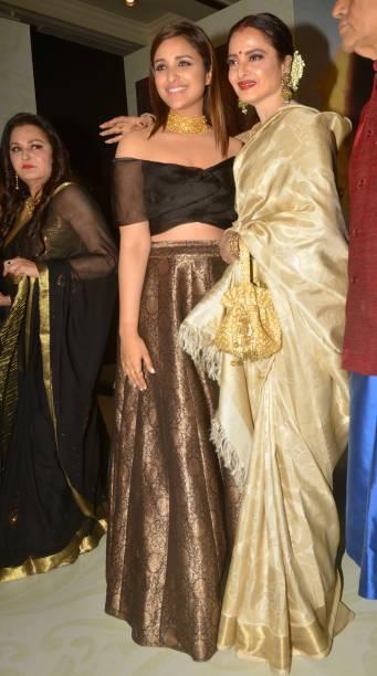 Parineeti Chopra and Rekha at the Yash Chopra Memorial Award 2018 in Mumbai