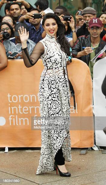 Parineeti Chopra arrives at the A Random Desi Romance premiere during the 2013 Toronto International Film Festival held at Roy Thomson Hall on...