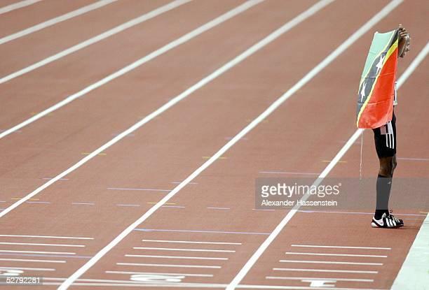 WM 2003 Paris 100 m/Maenner Gold fuer Kim COLLINS/SKN