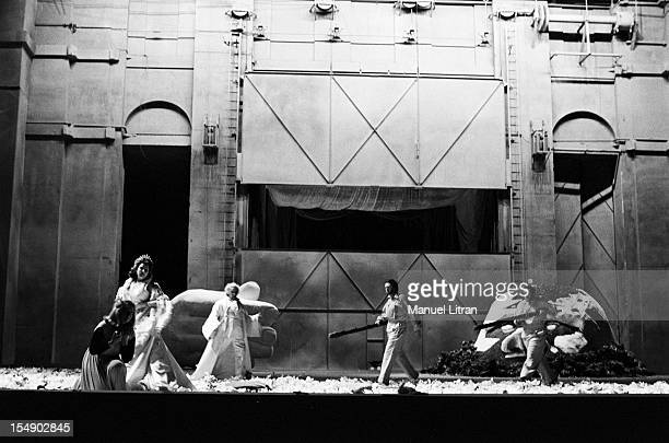 Paris 13 December 1976 at the Opera of Paris the opera 'Das Rheingold' by Richard Wagner directed by Peter Stein and directed by Georg Solti on stage...