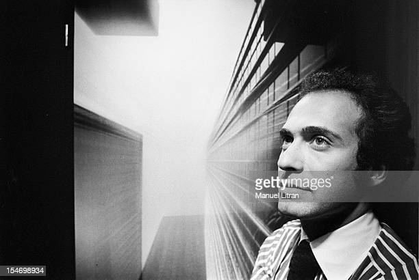 Paris 8 November 1977 Olivier Dassault grandson of Marcel Dassault passionate photographer exhibits his pictures on panels covered with layers of...