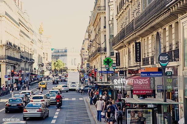 Paris 8th Arrondissement street scene